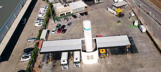 LNG France conçoit, construit et démarre des stations-service de gaz naturel liquéfié (GNL) et de gaz naturel véhiculé (GNV)