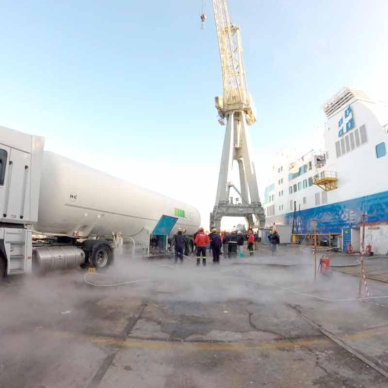 Groupe HAM possède une vaste expérience dans les projets maritimes liés au GNL