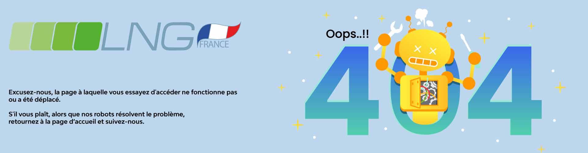 Page d'erreur 404 LNG France