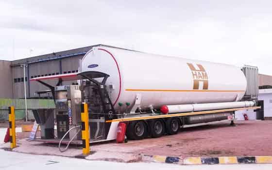 Groupe HAM propose à ses clients des solutions transportables pour le ravitaillement des véhicules au gaz naturel liquéfié et au gaz naturel comprimé.