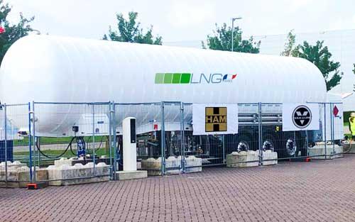 Vakuum conçoit, construit et démarre des unités mobiles qui permettent de remplir le GNL sur les camions et de réduire les installations de consommation